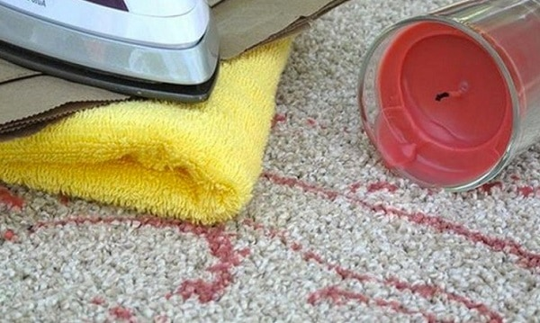 how to remove candle wax from carpet without an iron