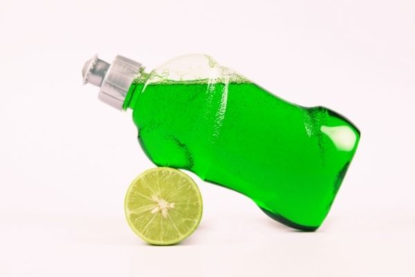 dishwashing liquid for sticky residue