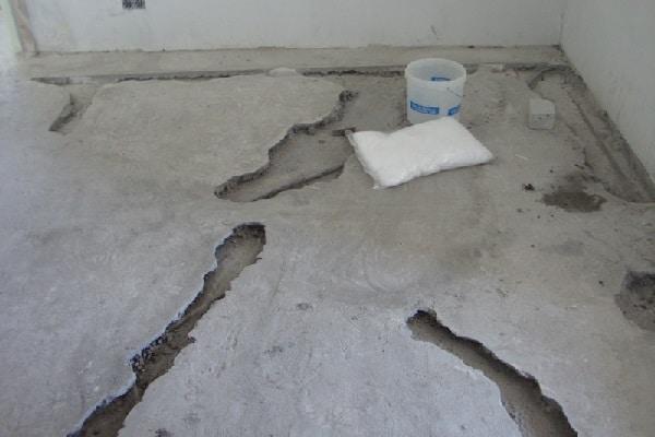 damaged concrete garage floor