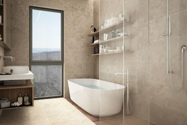 how to clean limestone bathroom