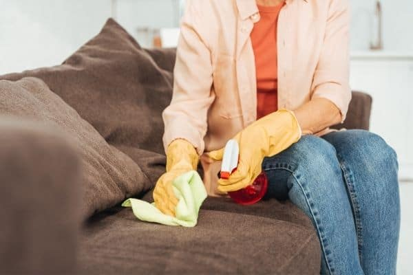 how to clean vomit out of couch