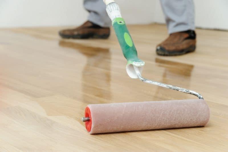 applying floor finish