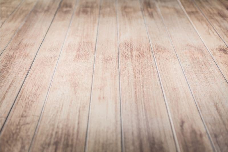 bleached wooden floor