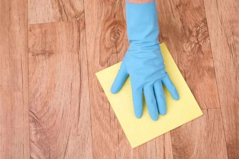 cleaning oil stain on wood floor