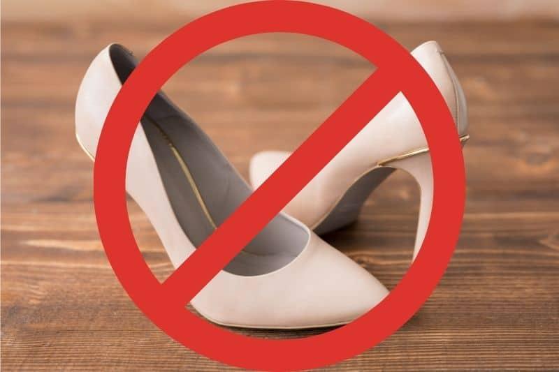 high heels on wooden floor 1