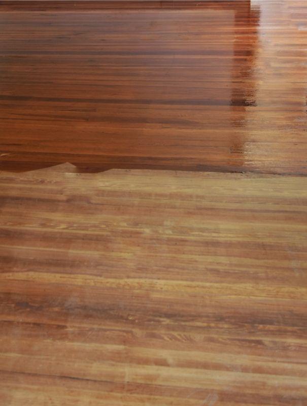 polyurethane on hardwood floor