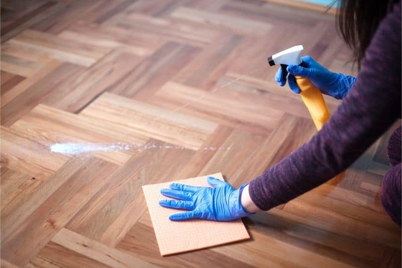 remove stain from wood floor