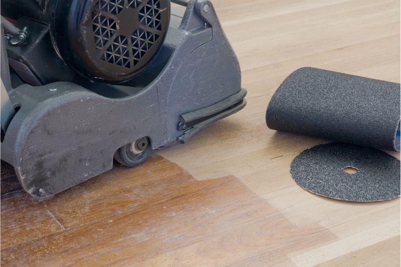sanding polyurethane floor 1