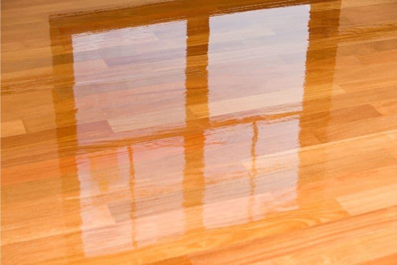 shiny polyurethane wood floor 1