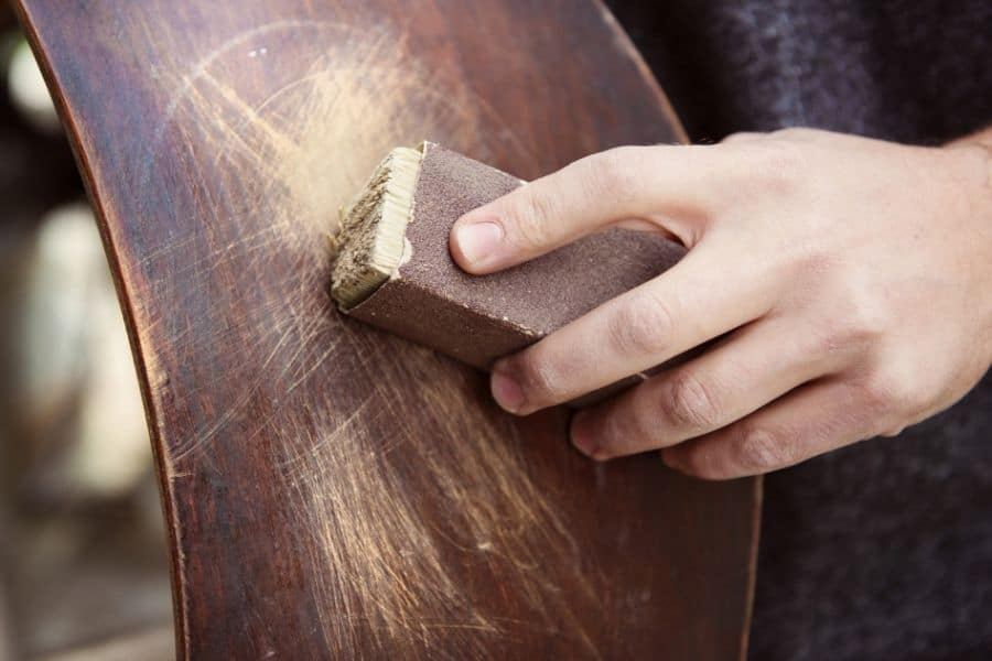 can you sand polyurethane off wood