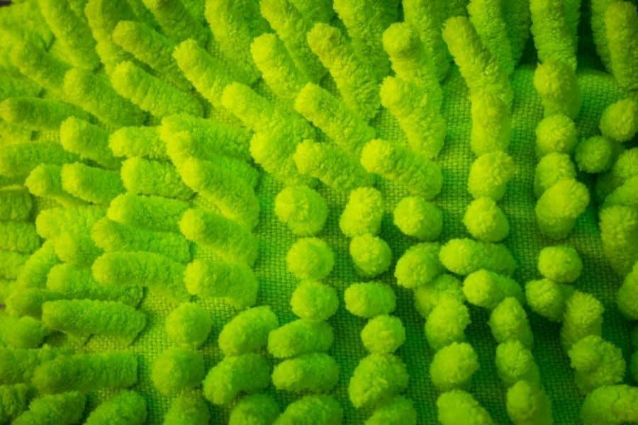 green microfiber flat mop
