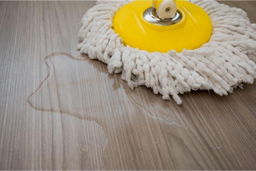 string mop on spills