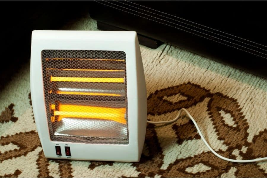 electric heater on carpet