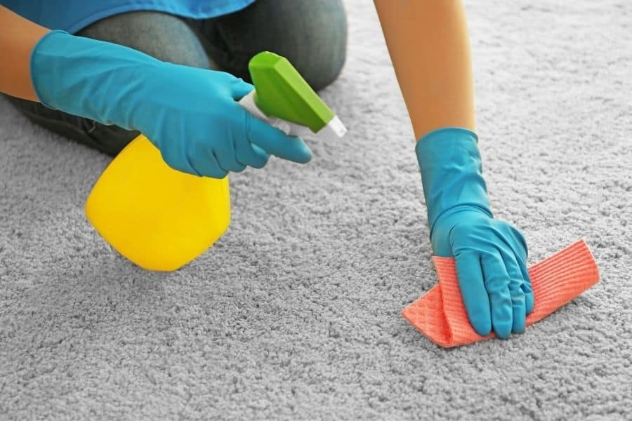how to get rubber cement out of carpet with rubbing alcohol