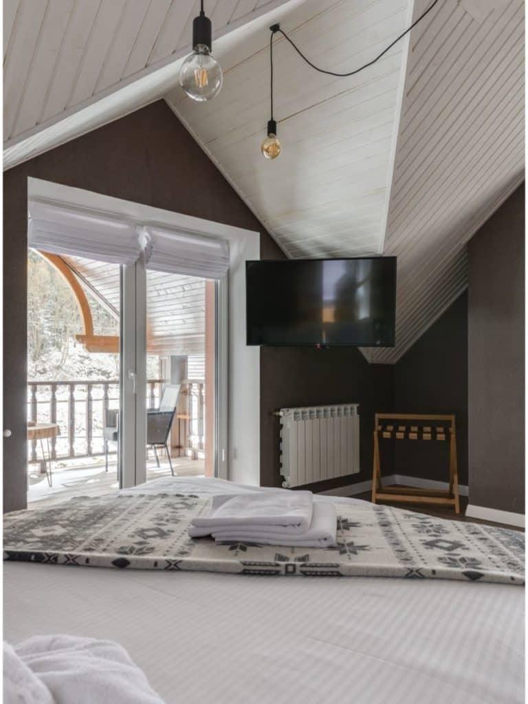 Roman shade on slanted ceilings