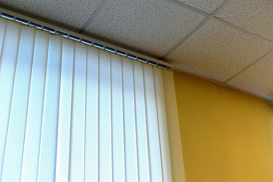 how to hang curtains from drop ceiling