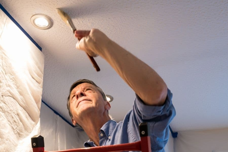 how to paint high ceilings
