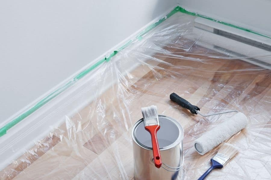 protect floor before painting
