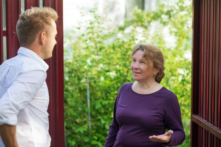 talking to neighbor